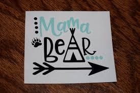 Mama Bear Decal Mama Bear Sticker Mama Bear Bear Decal Family Car Decal Decal For Women Mom Decal Mama Bear Car De Bear Decal Mama Bear Decal Car Decals