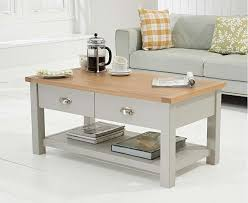 somerset oak and grey coffee table in