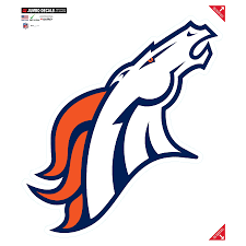 Denver Broncos 22 X 25 Jumbo Car Decal