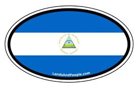 Nicaragua Vinyl Stickers Oval Central America World Stickers Lands People