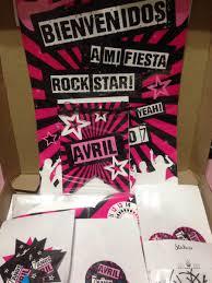Rock Pop Star Party Box Candy Bar Kits Impreso Fiesta 12 Inv