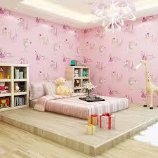 Cute Children S Kids Room Non Woven Wallpaper Ballet Princess Room Cartoon Wallpaper Korean Pink Bedroom Boy Girl Wall Papers Wallpapers Aliexpress