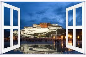 Amazon Com Huanyi Potala Palace In Tibet 3d Window View Decal Wall Sticker Decor Art Mural Home Kitchen