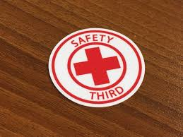 Lot Of 5 Safety Third Hard Hat Sticker Decal Funny Etsy