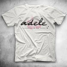 Adele White Unisex T-Shirt - Tees - Shirts