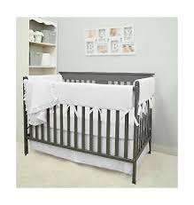 baby crib rail bedding set 6 pc cotton