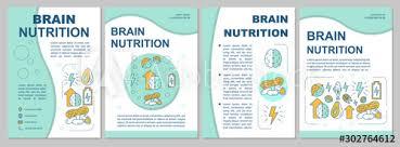 brochure template nuts healthy food