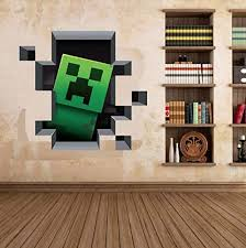 Minecraft Creeper 3d Wall Decal Cling Home Decor Wall Decal For Kids Bedroom Wallpaper Price In Saudi Arabia Amazon Saudi Arabia Kanbkam