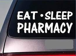 Amazon Com Eat Sleep Pharmacy Sticker 8 Vinyl Drugs Pharmacist Scrubs Hospital Home Kitchen