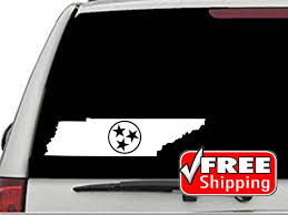 Tennessee Tri Star Rocky Top Decal Volunteer State Home Etsy
