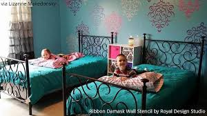 Wall Stencils In Kids Room Decor Diy Ideas For Decorating Nurseries Royal Design Studio Stencils