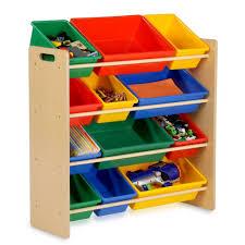 Honey Can Do 36 In H X 13 In W X 33 In D Primary Colors Plastic 12 Cube Storage Organizer Srt 01602 The Home Depot