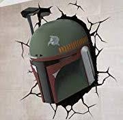 Star Wars Boba Fett Through The Wall Color Vinyl Decal Collector S Heaven