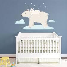 Polar Bear Wall Decal Polar Bear Wall Sticker Kids Room Wall Decals Winter Wall Decor Bear Wall Decal