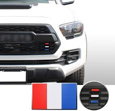 Amazon Com Optix Front Grille 3 Color Inlay Vinyl Wrap Decal Sticker Compatible With Tacoma Trd Pro 2016 2017 2018 2019 2020 Matte Red White Blue Automotive