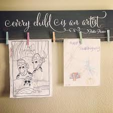Every Child Is An Artist Pablo Picasso Wall Decal Play Room Wall Decal Art Room Wall Decal Vinyl Decal Vinyl Wall Art Play Room Decor