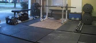 stall mats in a garage gym