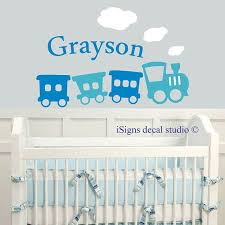 Train Name Decal Boys Room Decal Kids Room Decal Nursery Etsy Boys Room Decals Boy S Room New Baby Products