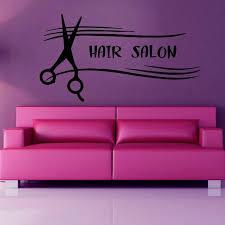 Shop Hair Salon Wall Decals Wall Words Beauty Salon Scissors Vinyl Sticker Home Decor Art Wall Sticker Decal Size 22x30 Color Black Overstock 14557869