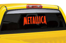 Metallica Vinyl Wall Decal Metallica Car By Thevinylstickershop Car Decals Unique Decals Vinyl Decals