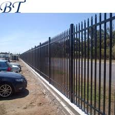 China 6ft Hot Sales Powder Coated Pressed Spear Steel Security Fencing China Ornamental Steel Fence Steel Security Fencing