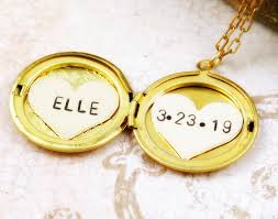 personalized heart locket necklace name