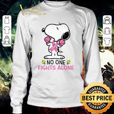 top snoopy no one fights alone t
