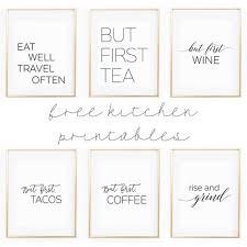 Adorable Kitchen Wall Art Printables Cute Sayings Savor Savvy