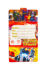 Tarjetas De Invitacion Lego Mister Pinatas