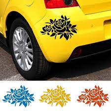 1 Piece Rose Flower Car Stickers Cover Scratches Vehicle Bumper Window Decal And Sticker For Auto Decoration Hxy Wish