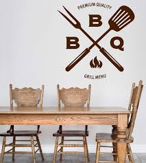 Wall Vinyl Decal Bbq Grill Menu Decor Catering Restaurant Cafe Unique Wallstickers4you