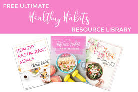 healthy habits resource library