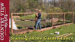 Starting To Fence In Our Vegetable Garden Youtube