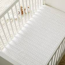 organic deco jewels crib fitted sheet