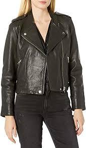 lucky brand women s pebble leather moto