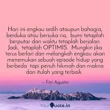 hari ini engkau sedih ata quotes writings by fitri agustin