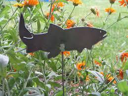 garden yard art cutthroat trout creek
