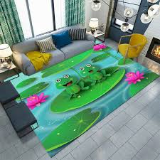 Home Garden Round Floor Mat Kids Bedroom Carpet Living Room Area Rugs Cute Frog Guitar Model Sisal Seagrass Area Rugs
