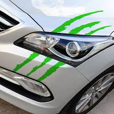 Reflective Monster Scratch Stripe Claw Marks Auto Headlight Decoration Car Vinyl Decal Sadoun Sales International