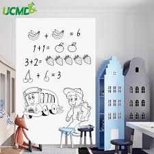 Self Adhesive Eraseable Whiteboard Sticker Painting Writing Teaching White Board Removable Wall Decal Sticker For Kids Baby Room Whiteboard Aliexpress