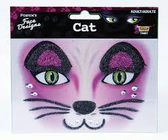 glittered rhinestone cat face design