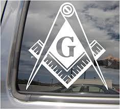 Amazon Com Right Now Decals Freemason G Masonic Masons Free Mason Cars Trucks Moped Helmet Hard Hat Auto Automotive Craft Laptop Vinyl Decal Store Window Wall Sticker 10029 Home Kitchen
