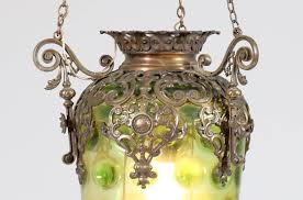 antique french brass hall lantern with