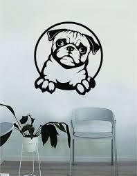 Pug V2 Dog Decal Sticker Wall Vinyl Art Home Living Room Bedroom Decor Boop Decals