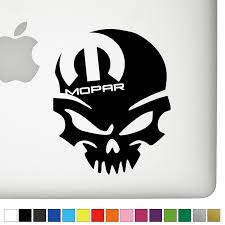 Dodge Mopar Left Badass Skull Decal