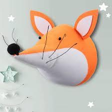 Qoo10 3d Cute Fox Animal Head Wall Art Hanging Doll Toy Children Kids Room D Computer Games