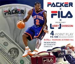 Larry Johnson x Packer Shoes x Fila FX-100 - '4-Point Play Pack ...