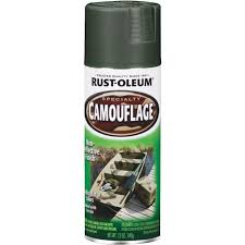 Rust Oleum Camouflage 12 Oz Flat Spray Paint Deep Forest Green Parker S Building Supply