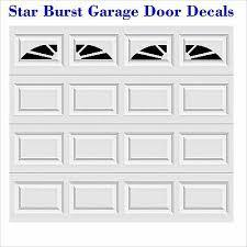 Starburst Faux Window Garage Door Vinyl Decals Fits 8 X 15 Up Style A2 Ebay