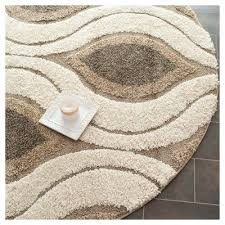 smoke abstract tufted round area rug